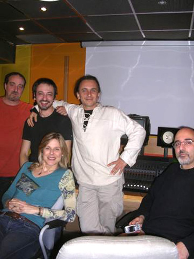 Slow Release backstage - Elisabeth, Andrea Leali, Saverio Capo, Filippo De Laura, Eugenio Vatta